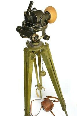 Interwar Director No 6a Mk III artillery aimer's sight, with tripod, case etc.