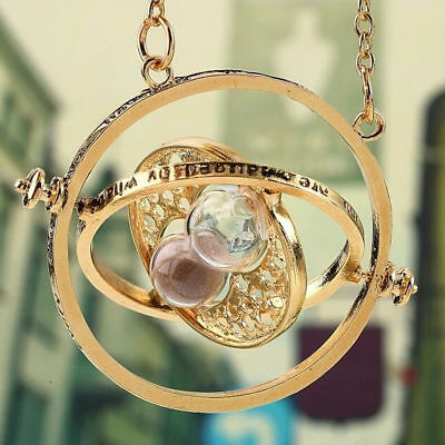 Women Harry Potter Time Turner Hermione Hourglass Necklace Rotating Necklace