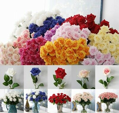 Large Artificial Rose Bouquet Fake Silk Flowers Floral Wedding party decoration