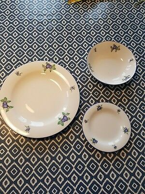 "Royal Doulton Everyday Blueberry ""REPLACEMENTS"" Bowl Plate Side  1st Quality"