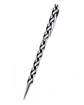 Ballpoint Pen in Black with Celtic Plaid, Gifts for Writers, College, Uni 0016