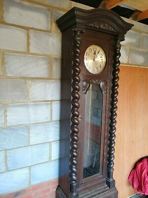 Old WESTMINSTER CHIME GRANDFATHER CLOCK