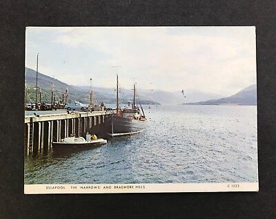 Postcard Ullapool The Narrows and Braemore Hills Ross Shire