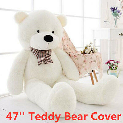 120cm Giant White Teddy Bear CASE COVER NO FILLED COTTON Huge Plush Toy DIY Gift