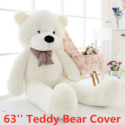 160cm Giant White Teddy Bear CASE COVER NO FILLED COTTON Huge Plush Toy DIY Gift