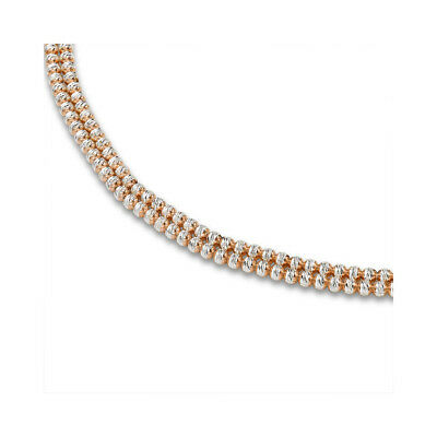 Rhodium Coated Sterling Silver 2-Colour Sparkling Beads Bead Chain