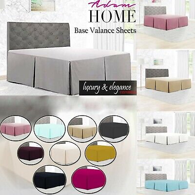 Plain Dyed Luxury Poly Cotton Platform Base Valance Box Pleated Sheet All Sizes