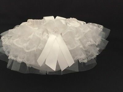 Handmade extra frilly lace & tulle frilly knickers nappy cover christening