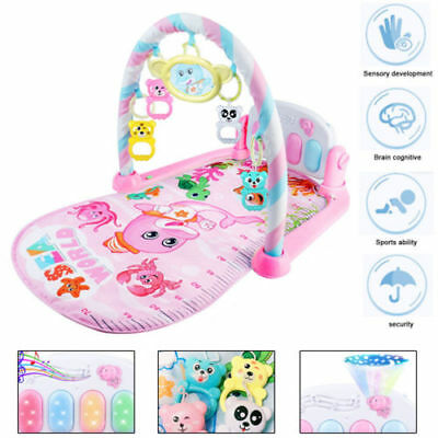 Baby Gym Play Mat Lay&Play 3 in1 Fitness + Music + Lights Fun Piano Boy Girl UK