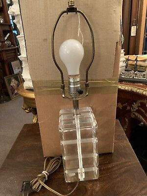 Sophisticated And Sleek Vintage Lucite Lamp