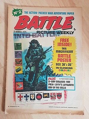 Battle Picture Weekly Comic Number No.2 March 15th 1975
