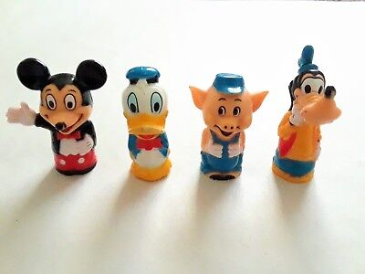 Rare Vintage 1960s Walt Disney Pencil Toppers Made in Hong Kong (Lot of 4)