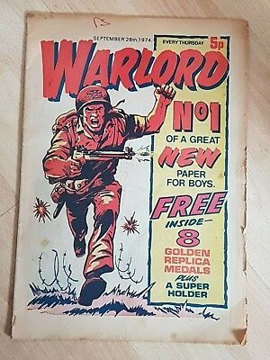 Warlord Comic Number No.1 September 28th 1974