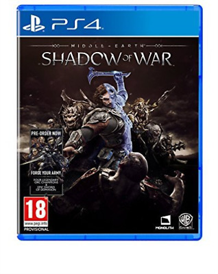 Playstation 4-MIDDLE EARTH SHADOW OF WAR GAME NEW