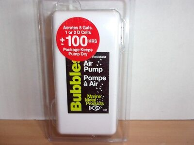 Marine Metal Bubbles portable air pump aerator B-3 NIP