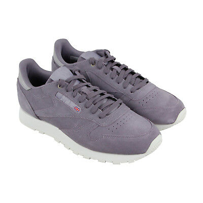 42282ff9c4a37 Reebok Classic Leather Mcc Mens Purple Leather Athletic Training Shoes
