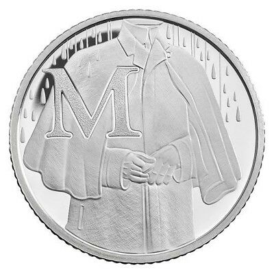 2018 Letter M 10p Coin - MACKINTOSH COAT - Great British Coin Hunt - Royal Mint