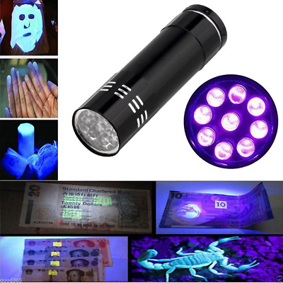 LED UV Black Light Torch, Ultra Violet, Gas Leak, Forensic Blood,  Detector uk 1