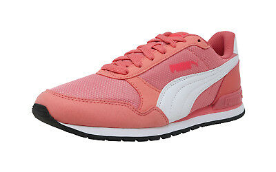 303d14d16278 PUMA ST Runner V2 Mesh Shell Pink Suede Lace Up Kid Sneakers Fashion Youth  Shoes