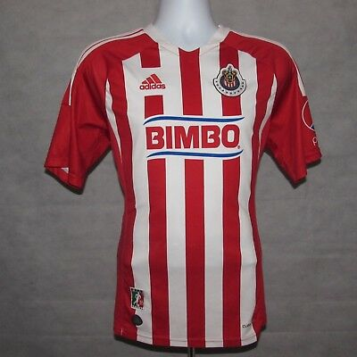 2011-2012 Chivas de Guadalajara Home Football Shirt, Adidas, Medium (Mint)