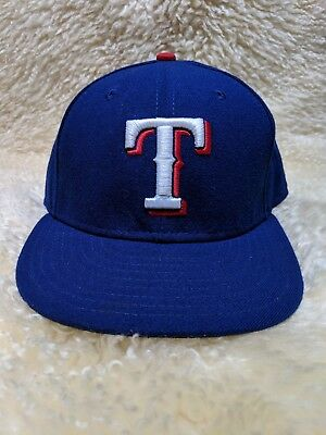 buy online 7fcb1 b633f Texas Rangers MLB New Era 59Fifty 5950 Fitted Hat Cap Size 7