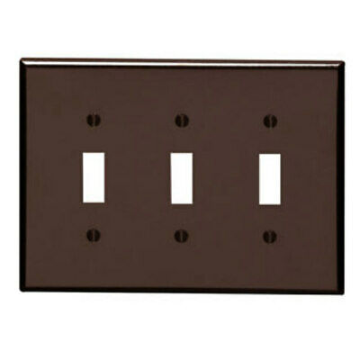 Leviton BROWN Triple Gang Light Switch Wall Plate Cover 3 Switch 85011 NEW MINT!