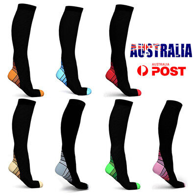 Copper Compression Socks Men Women Calf Shin Leg Running Sports Medical Sleeve