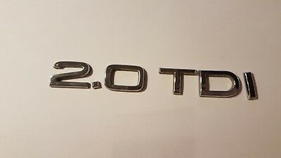 Audi A3 8P A4 B7 2.0 TDi Boot Tailgate Badge Logo New Genuine