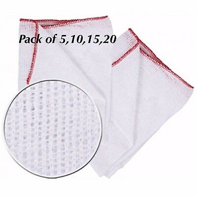 DOUBLE LAYERED 100% SOFT COTTON  JUMBO CLEANING DISH CLOTHS  UK Seller