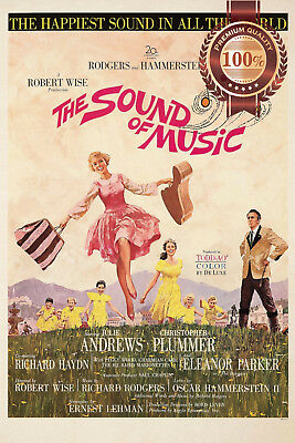 New The Sound Of Music 1965 Official Original Cinema Movie Print Premium Poster