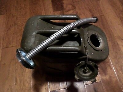 Jerry Can Spout Military Gas Nozzle 5 Gal Flexible Metal Screw On Type New