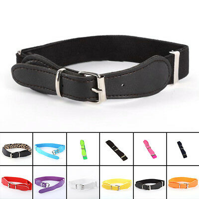 Kids Children Belt Boys Girls Elastic Waist Belt Waistband Alloy Buckle Candy