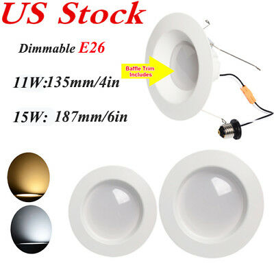 11W 15W E26 LED Ceiling Downlight Recessed Light Lamp Bulb Dimmable 1/4/10 Pack