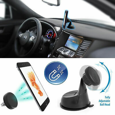Universal Magnetic Car Dashboard Windshield Rotate Suction Cup Holder Mount New