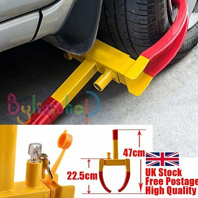Heavy Duty Car Tyre Wheel Lock Clamp Anti Theft Trailer Caravan Security Locking