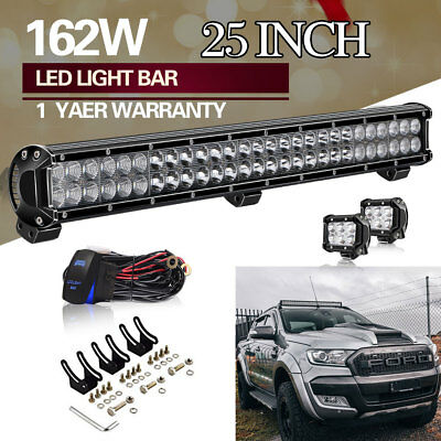 Slim 25Inch Dual Row 162W Led Light Bar For Offroad Driving Fog Light Combo 24