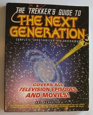 The Trekker's Guide to The Next Generation by Hal Schuster paperback 1997