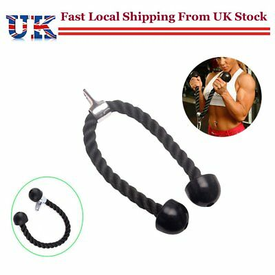 Tricep Rope Lat Cord Multi/Home/Cable Gym Attachment Pull Down Pulley Handle