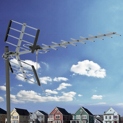 Leadzm 100MILES OUTDOOR TV ANTENNA AMPLIFIED HIGH GAIN HDTV 1080P DIGITAL SIGNAL