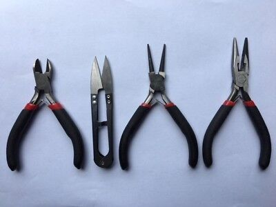 4 X Jewellery Making Tools In Black Zipped Carry Case - New