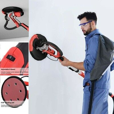 800W Adjustable Electric Drywall Sander with Vacuum and LED Light