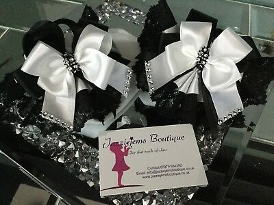 💝🎀 Dream Designer Spanish Girls Tutu Diamanté Socks Bow Jazziejems Boutique