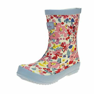 Joules White Ditsy Welly Girls Multi Welly Boot size uk kids children