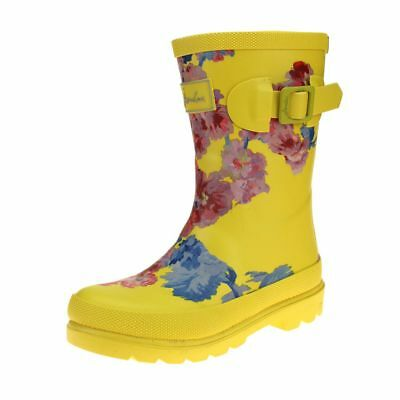 Joules Yellow Floral Girls Yellow Welly Boot size uk kids children