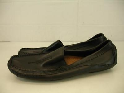 e478613a53 Mens 12 M Clarks England Mansell Black Leather Driving Shoes Loafer Slip-On  Mocs