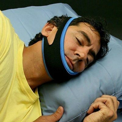 UK Anti Stop Snoring Aid Chin Support Strap Stop Snore Belt Device Jaw Solution