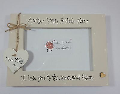 Personalised Auntie Uncle Niece Nephew Love You Moon Back 4x6