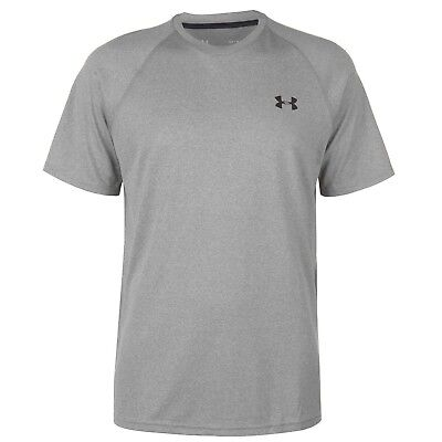 UNDER ARMOUR Mens Technical Training Short Sleeve T Shirt Grey Size Small S BNWT