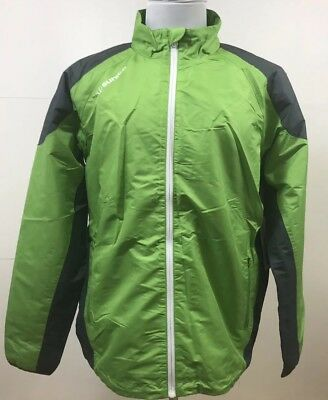 03466afbea6d SUNICE Mens Rockford Full Zip WaterRepellent Golf Jacket Green Large L BNWT