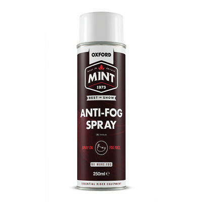 Oxford Mint Bicycle Cycle Bike Helmet Lid Visor Lens Anti-Fog Spray 250ml -OC301